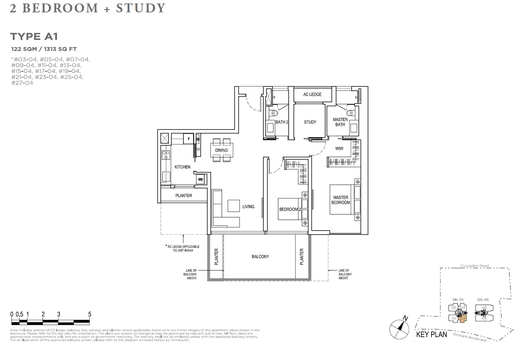 Boulevard 88 2 Bedroom + Study - Type A1