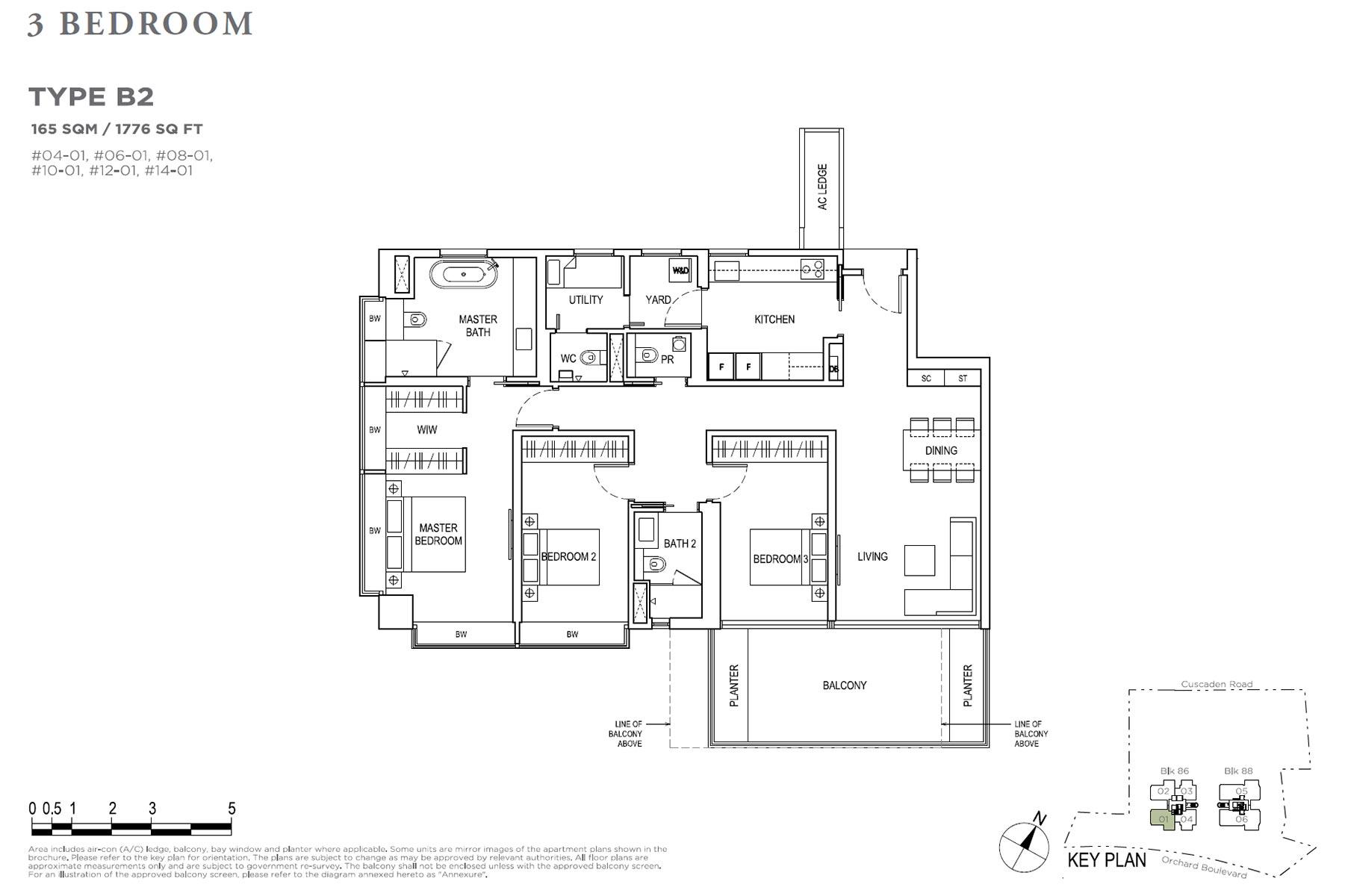 Boulevard 88 3 Bedroom + Study - Type B2
