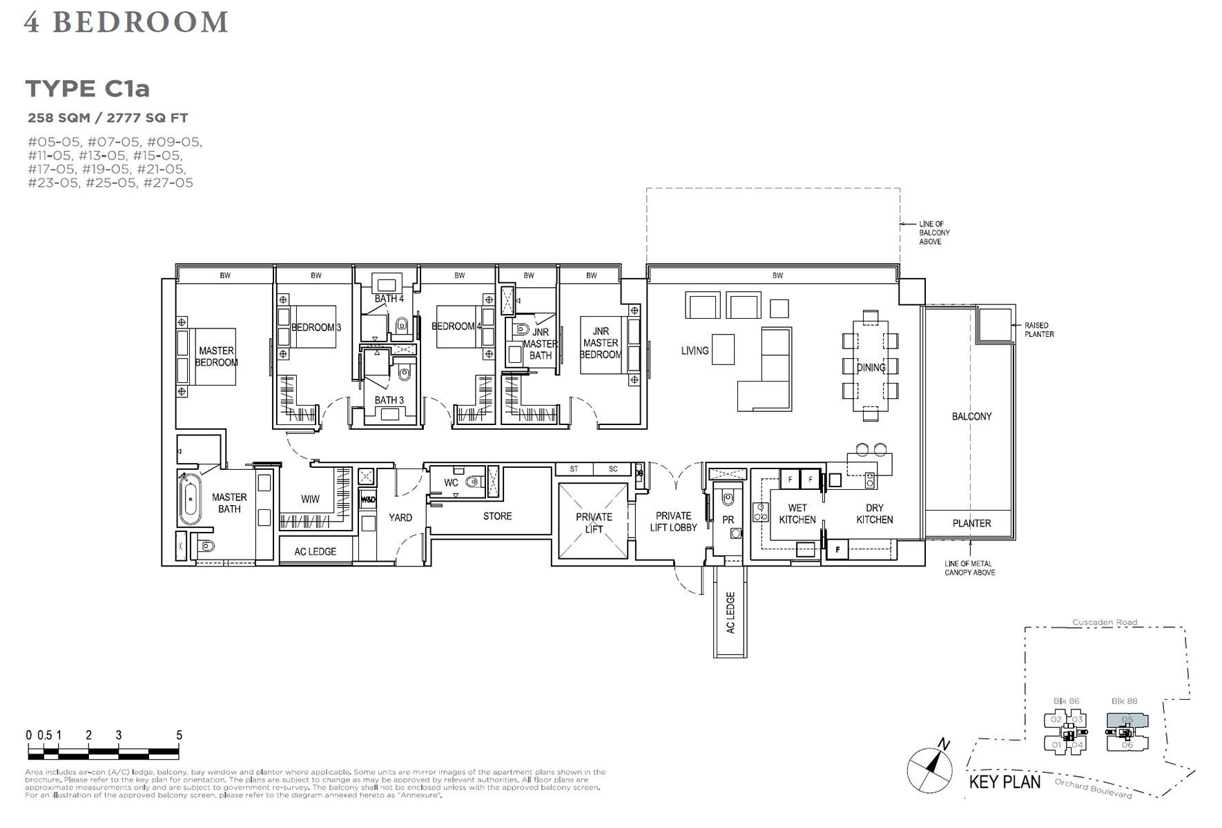 Boulevard 88 - 4 Bedroom C1a