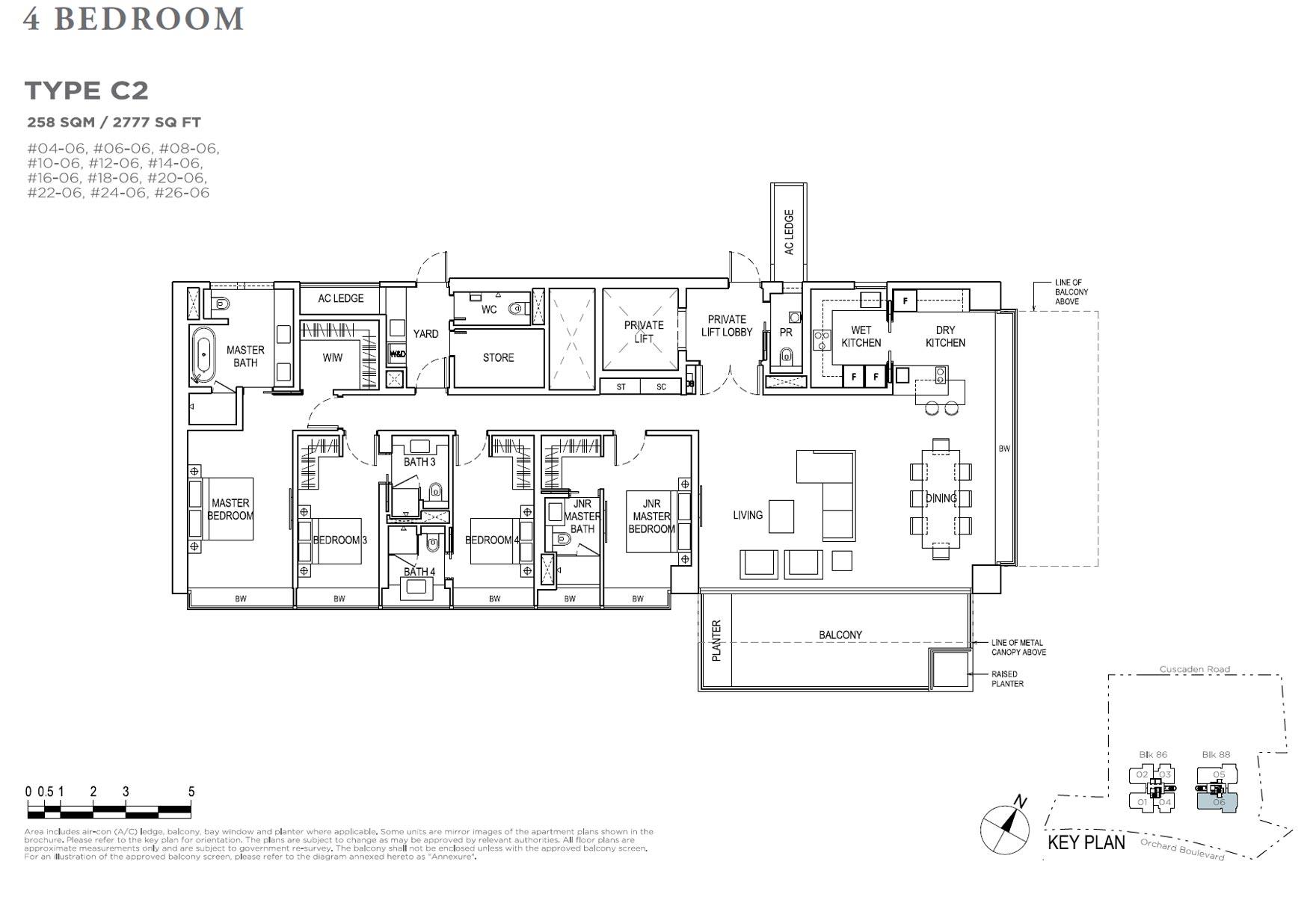 Boulevard 88 - 4 Bedroom C2