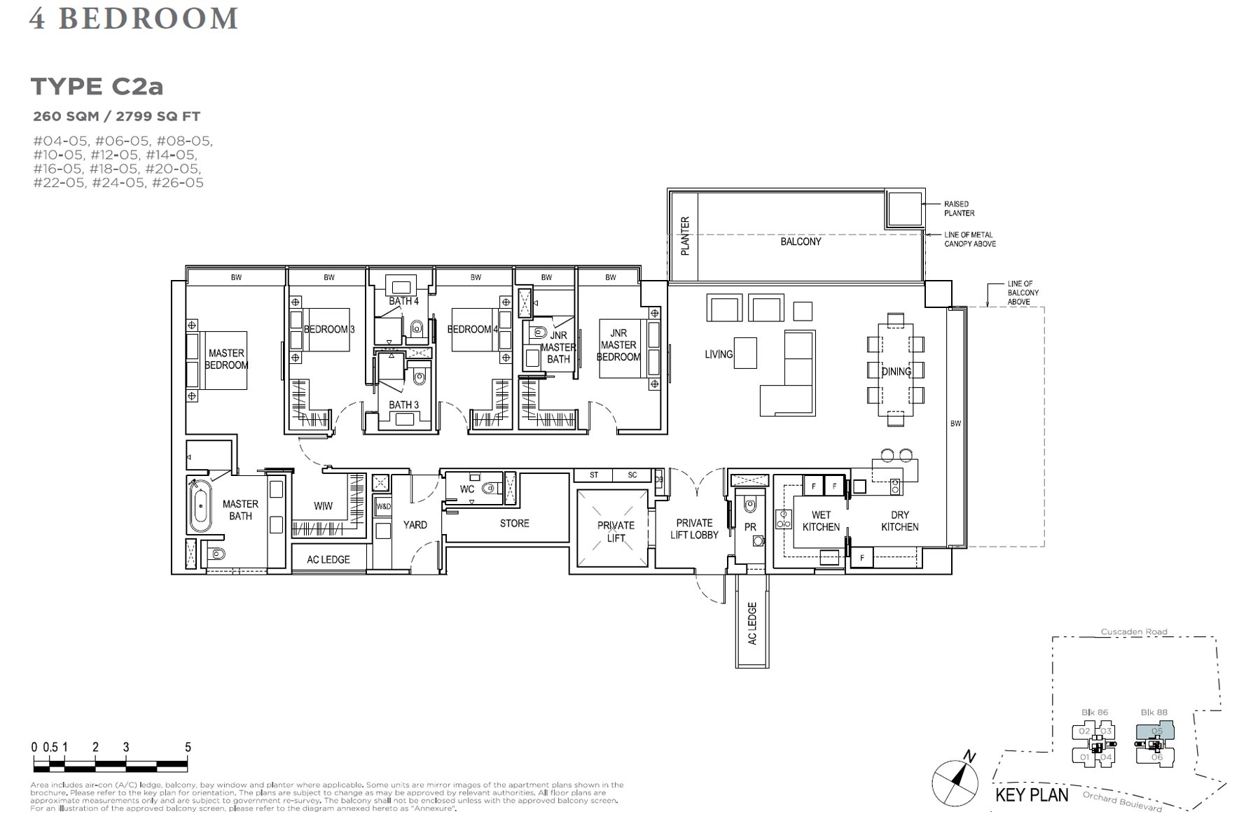 Boulevard 88 - 4 Bedroom C2a