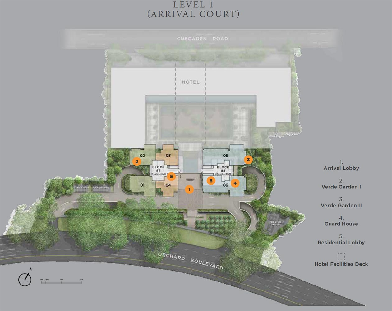 Boulevard 88 Site Plan Level 1